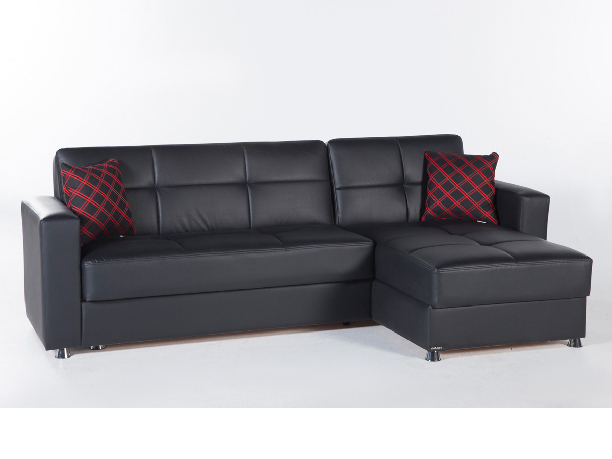 Sectional Sofa Santa Glory Black